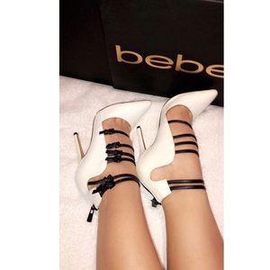BeBe black/white pumps